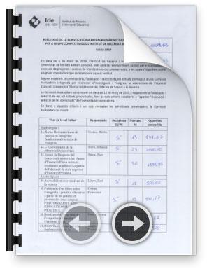 Acta de la comissió avaluadora